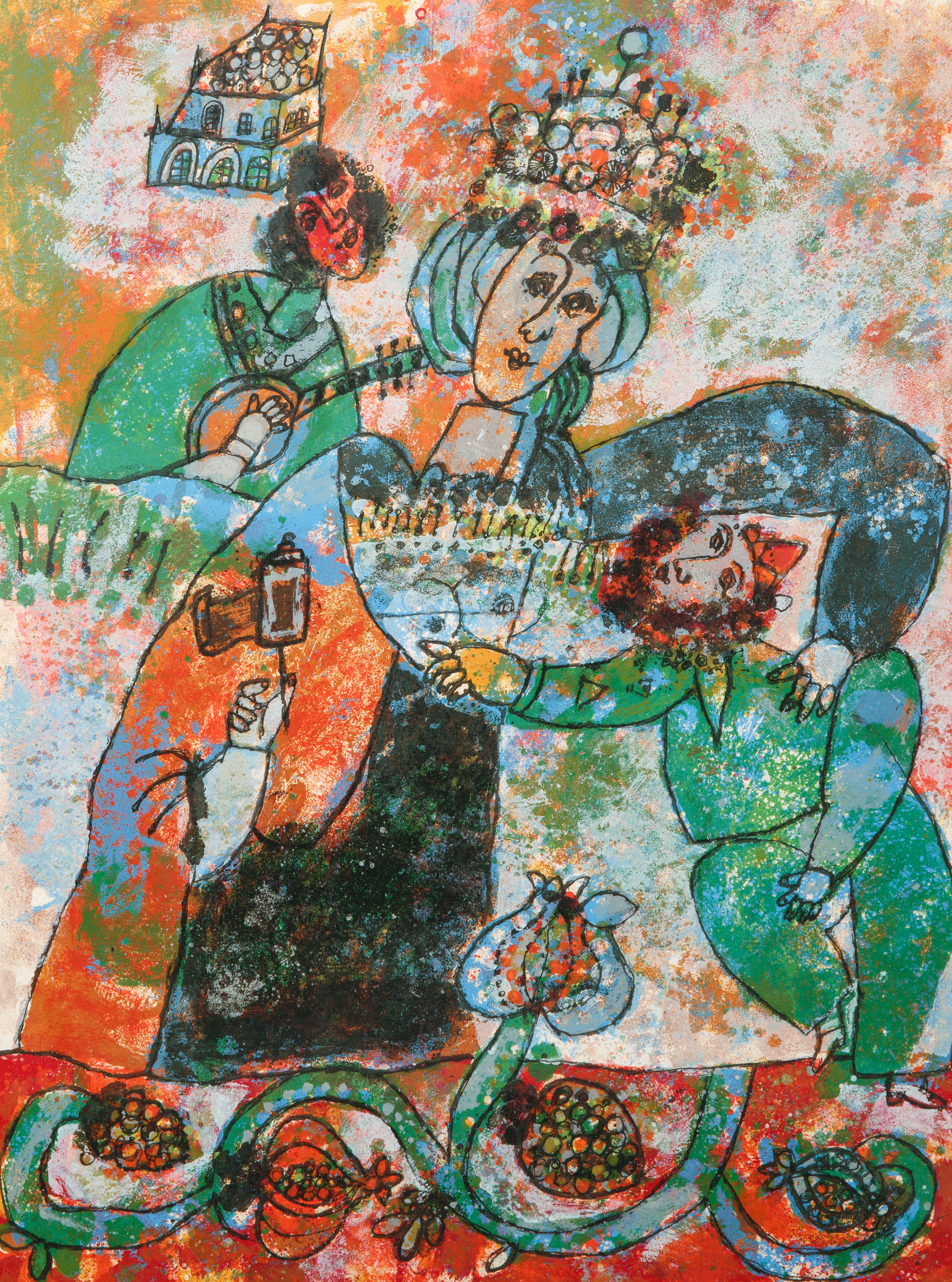 A PAIR OF LITHOGRAPHS BY THEO TOBIASSE (FRENCH 1927-2012) - Image 2 of 7