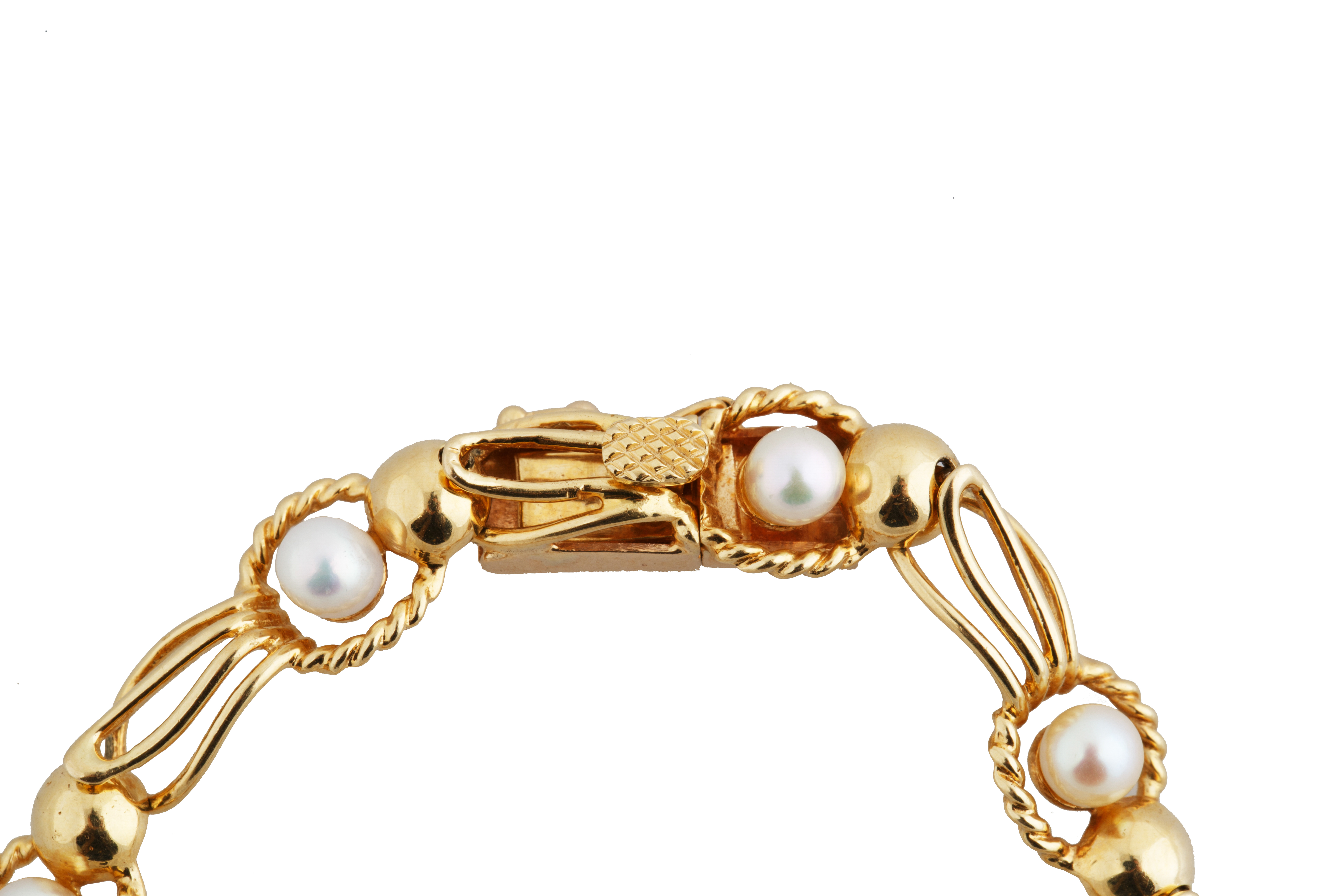 PEARL AND 18KT GOLD BRACELET AND NECKLACE SET - Image 6 of 8