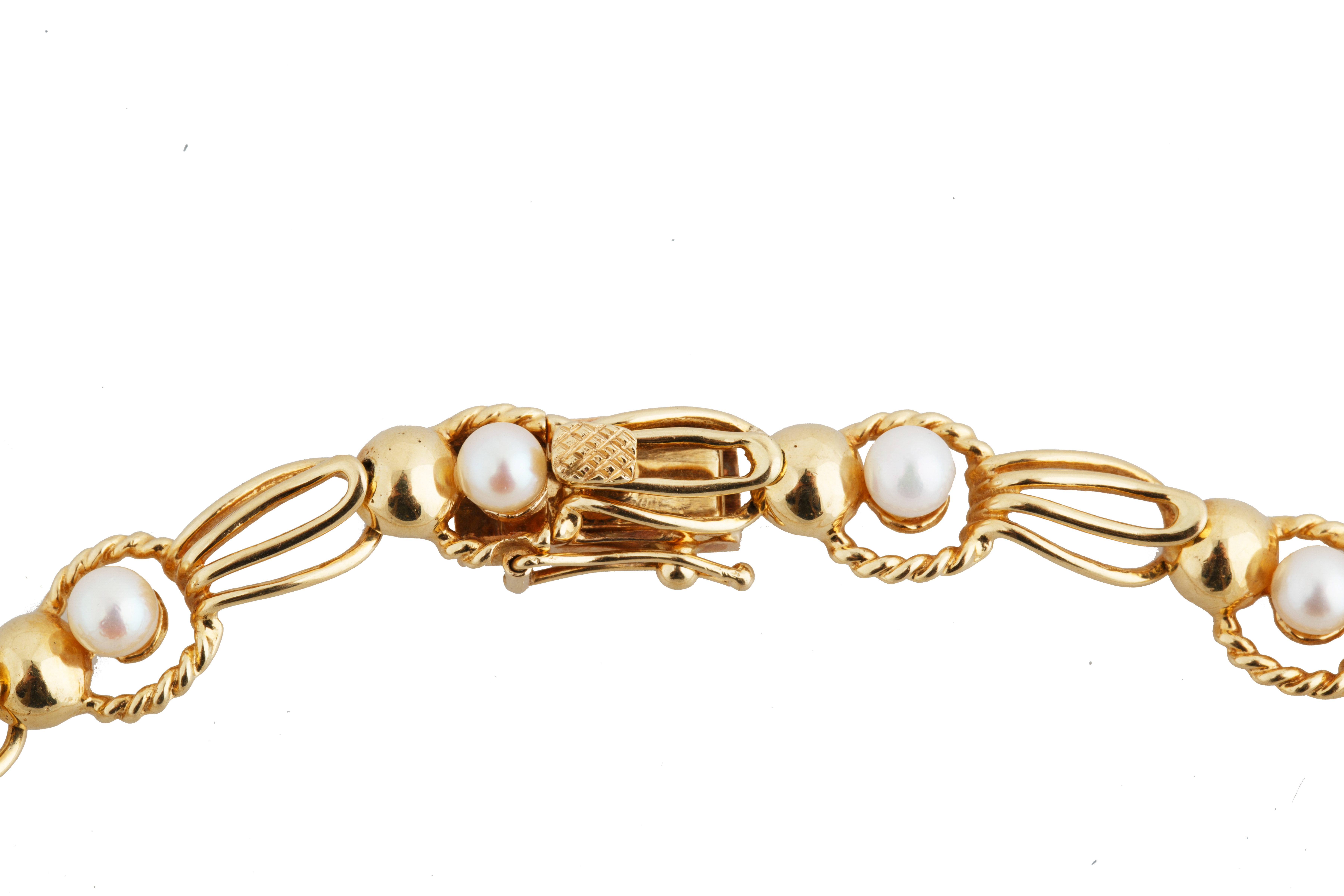 PEARL AND 18KT GOLD BRACELET AND NECKLACE SET - Image 3 of 8