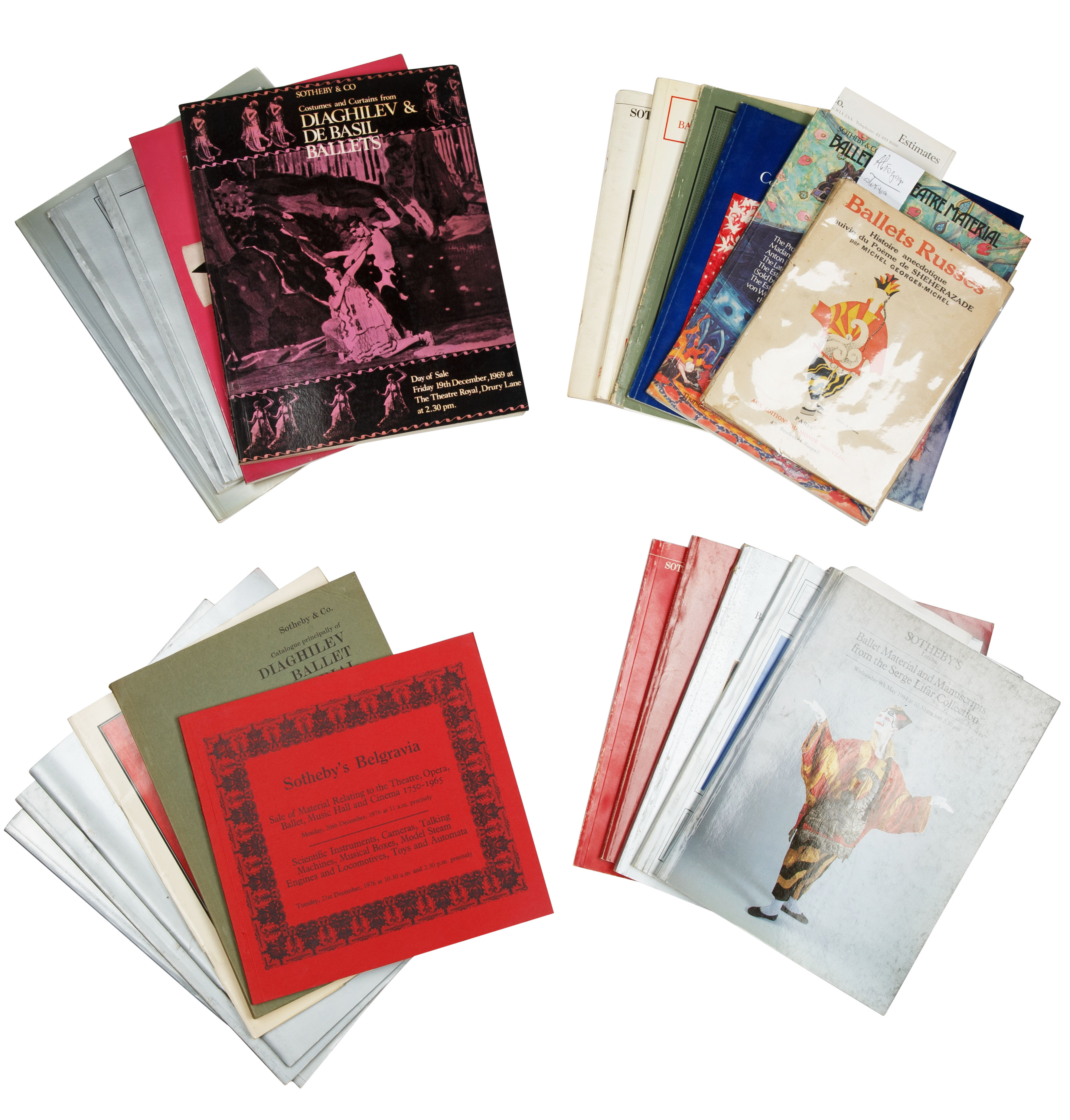 A GROUP OF 46 BALLET RUSSE AUCTION CATALOGUES AND BOOKS - Image 3 of 3