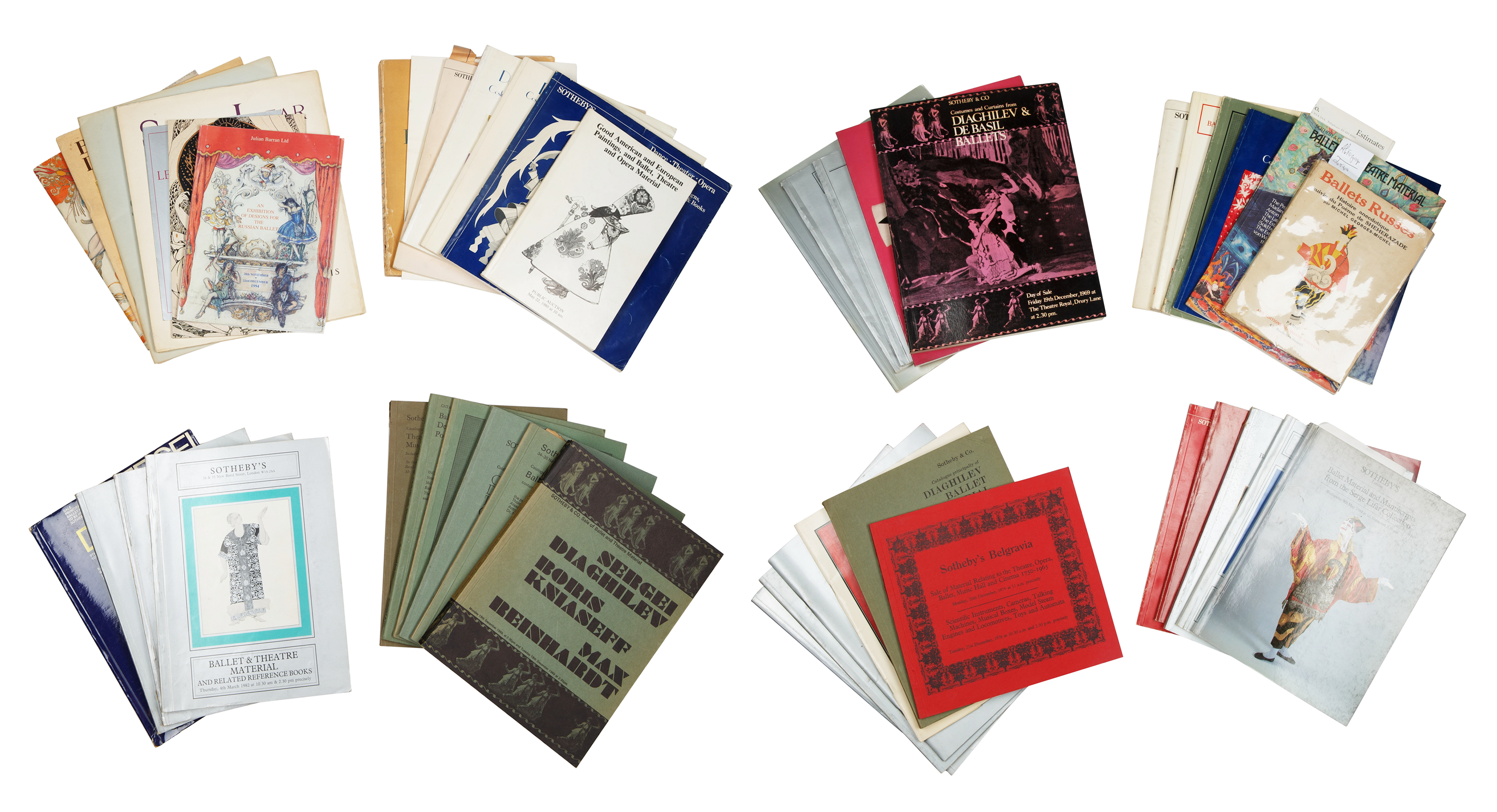 A GROUP OF 46 BALLET RUSSE AUCTION CATALOGUES AND BOOKS