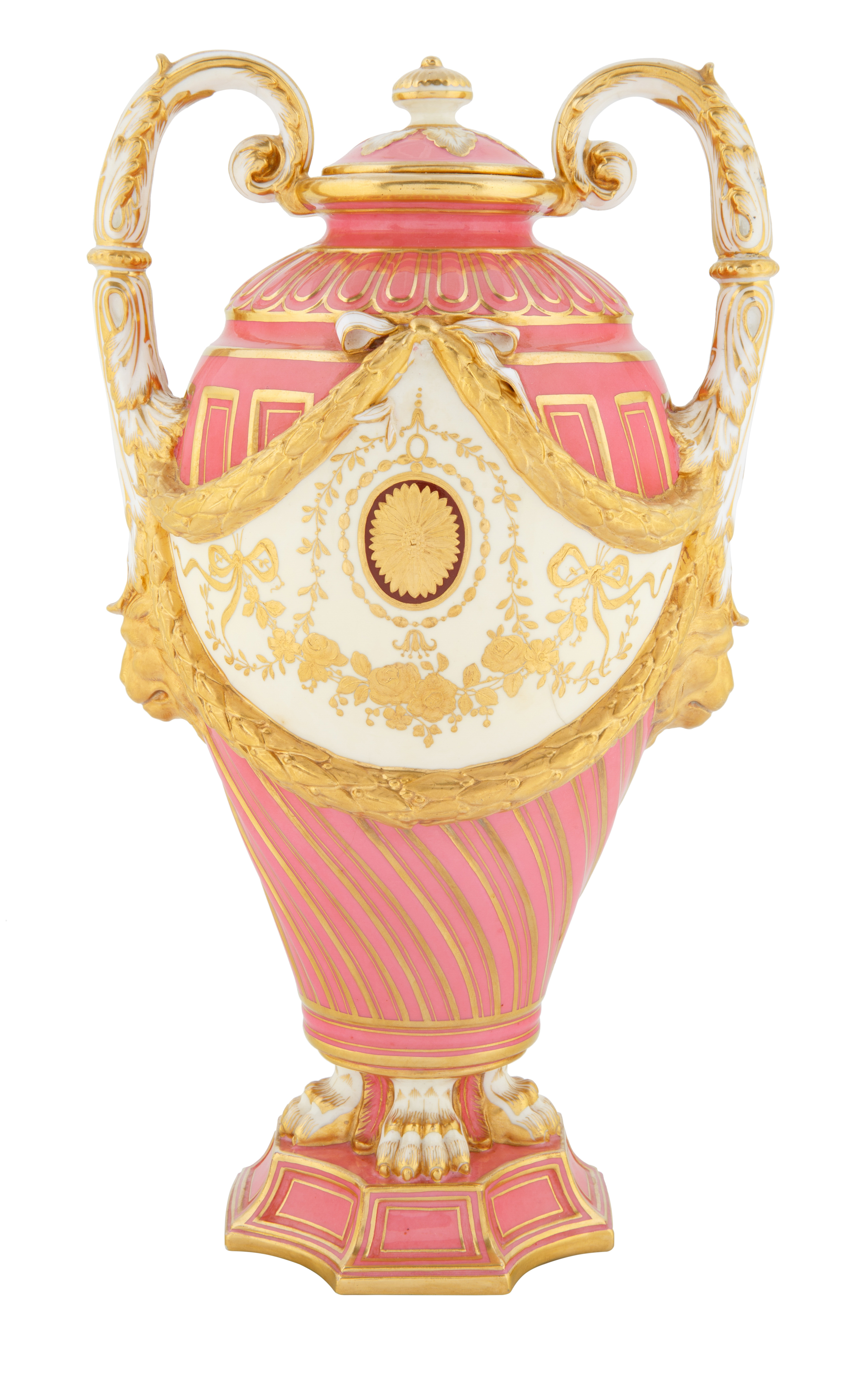MINTONS VASE FOR PHILADELPHIA AND CALDWELL CO., CIRCA 1847 - Image 2 of 4