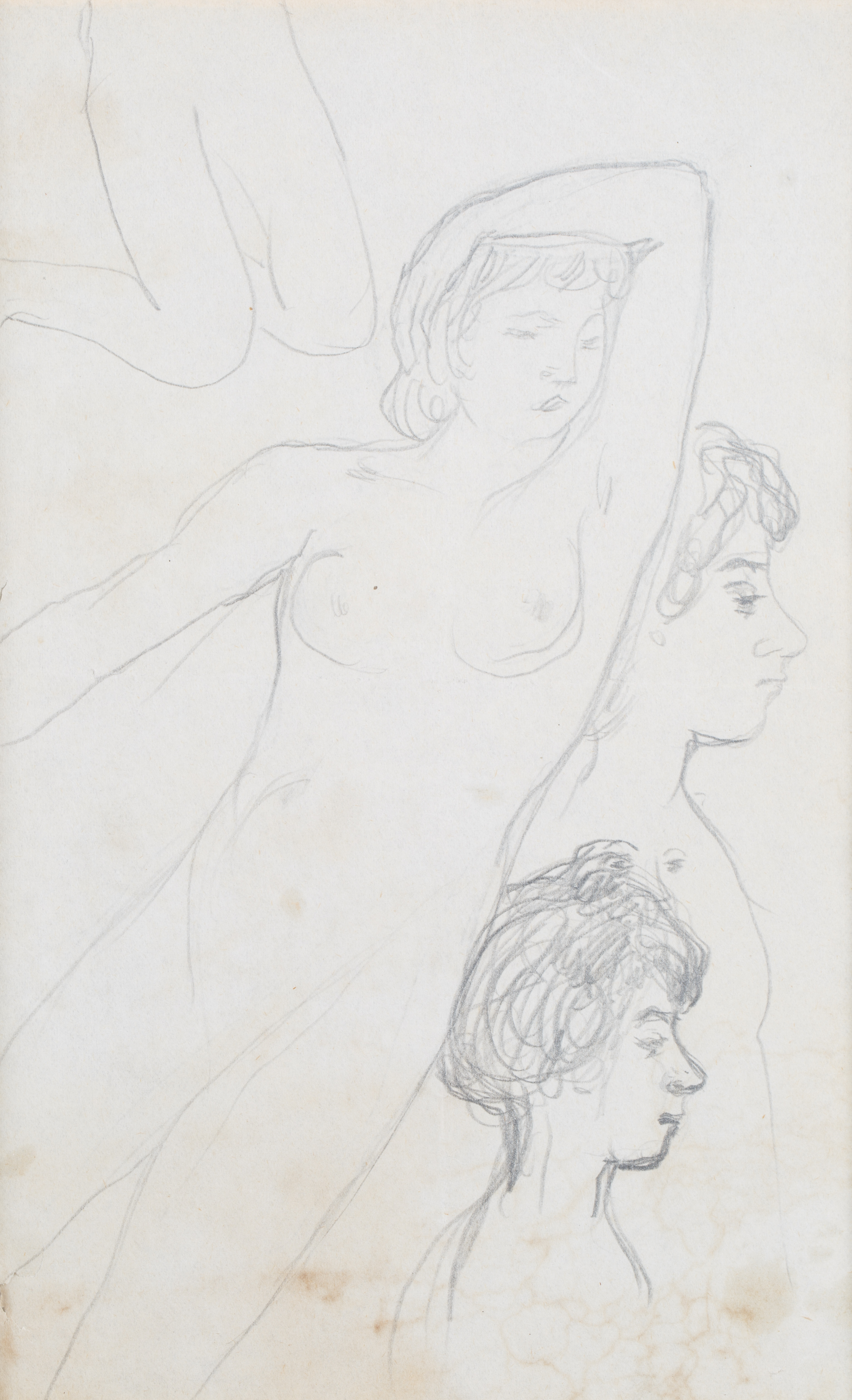 A DOUBLE-SIDED NUDE BY PIERRE BONNARD (FRENCH 1867-1947) - Image 4 of 6