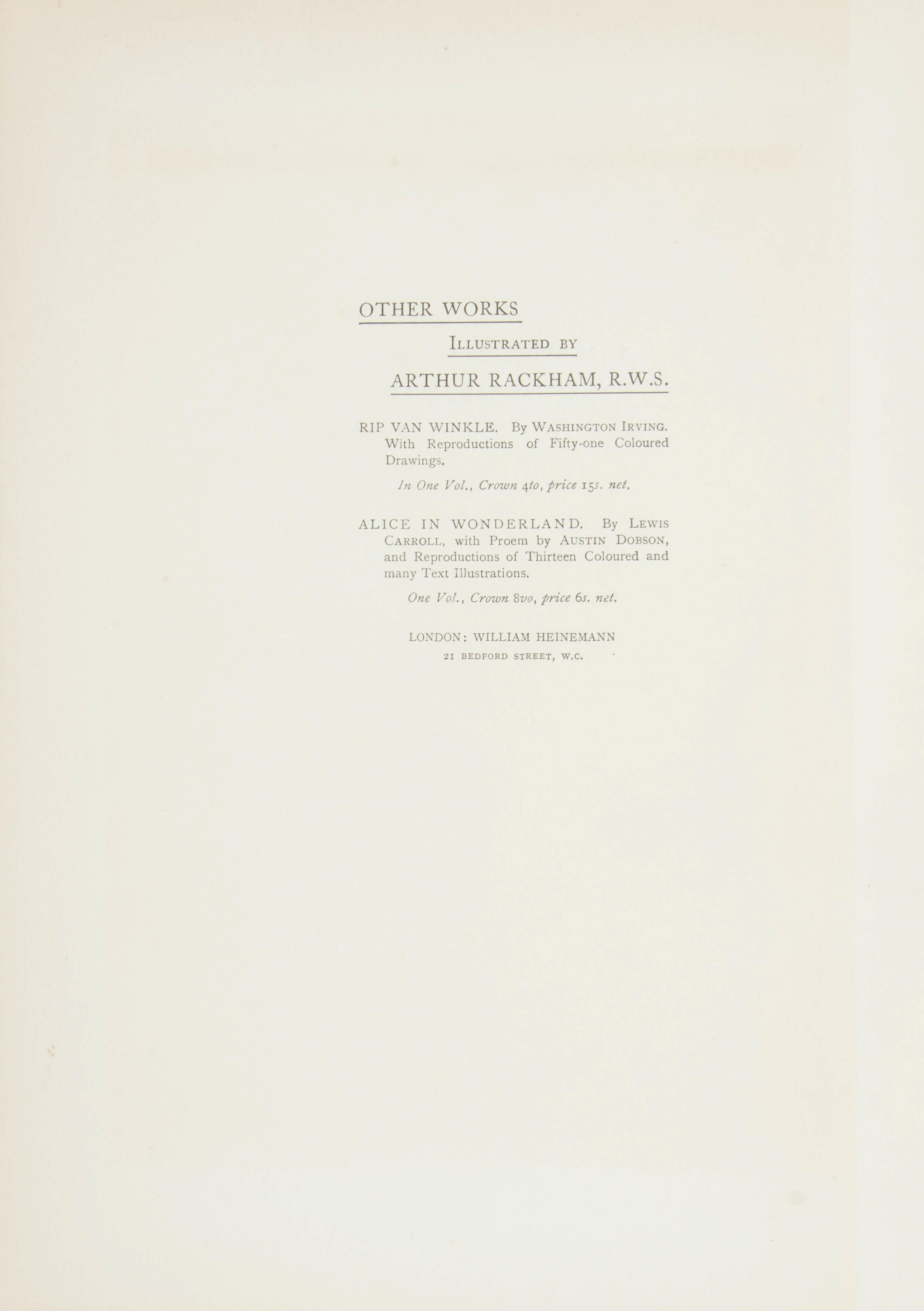 1908 MIDSUMMER NIGHT'S DREAM BY WILLIAM SHAKESPEARE, ILLUSTRATIONS BY ARTHUR RACKHAM - Image 3 of 7