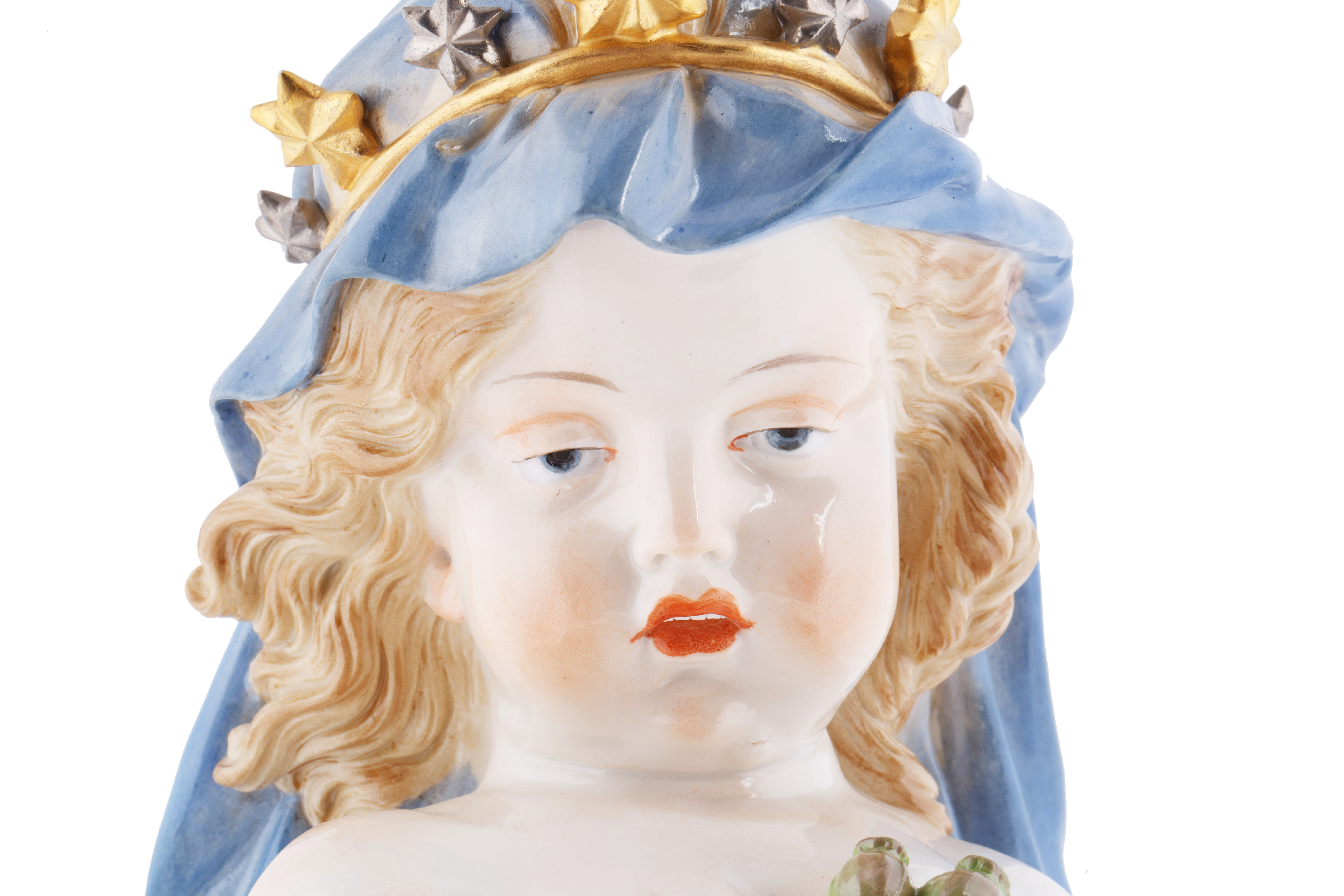 """LATE 19TH CENTURY MEISSEN PORCELAIN FIGURINE EMBLEMATIC OF """"NIGHT"""" - Image 3 of 6"""
