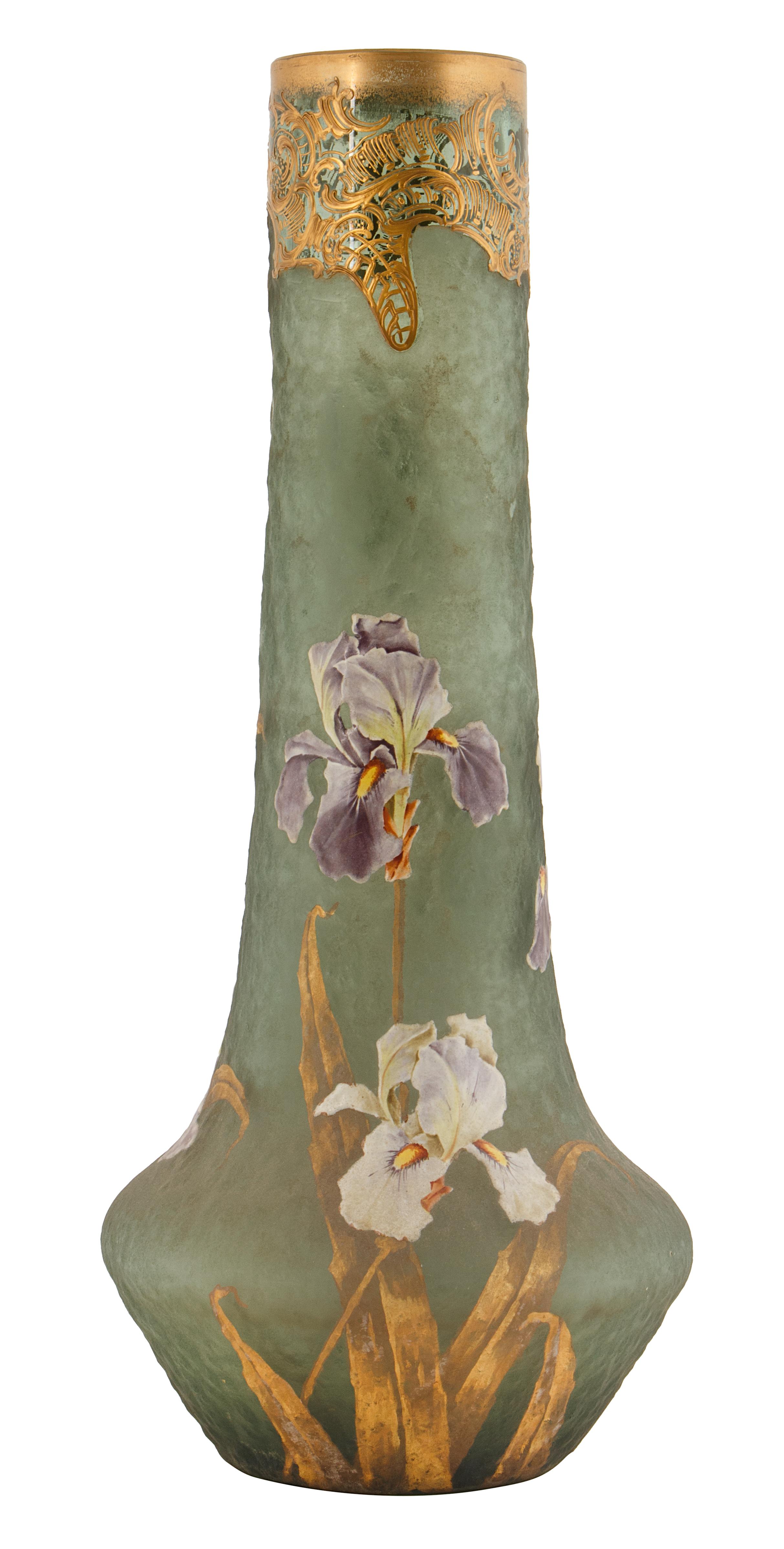 EARLY 20TH CENTURY ART NOUVEAU IRIS VASE - Image 2 of 3