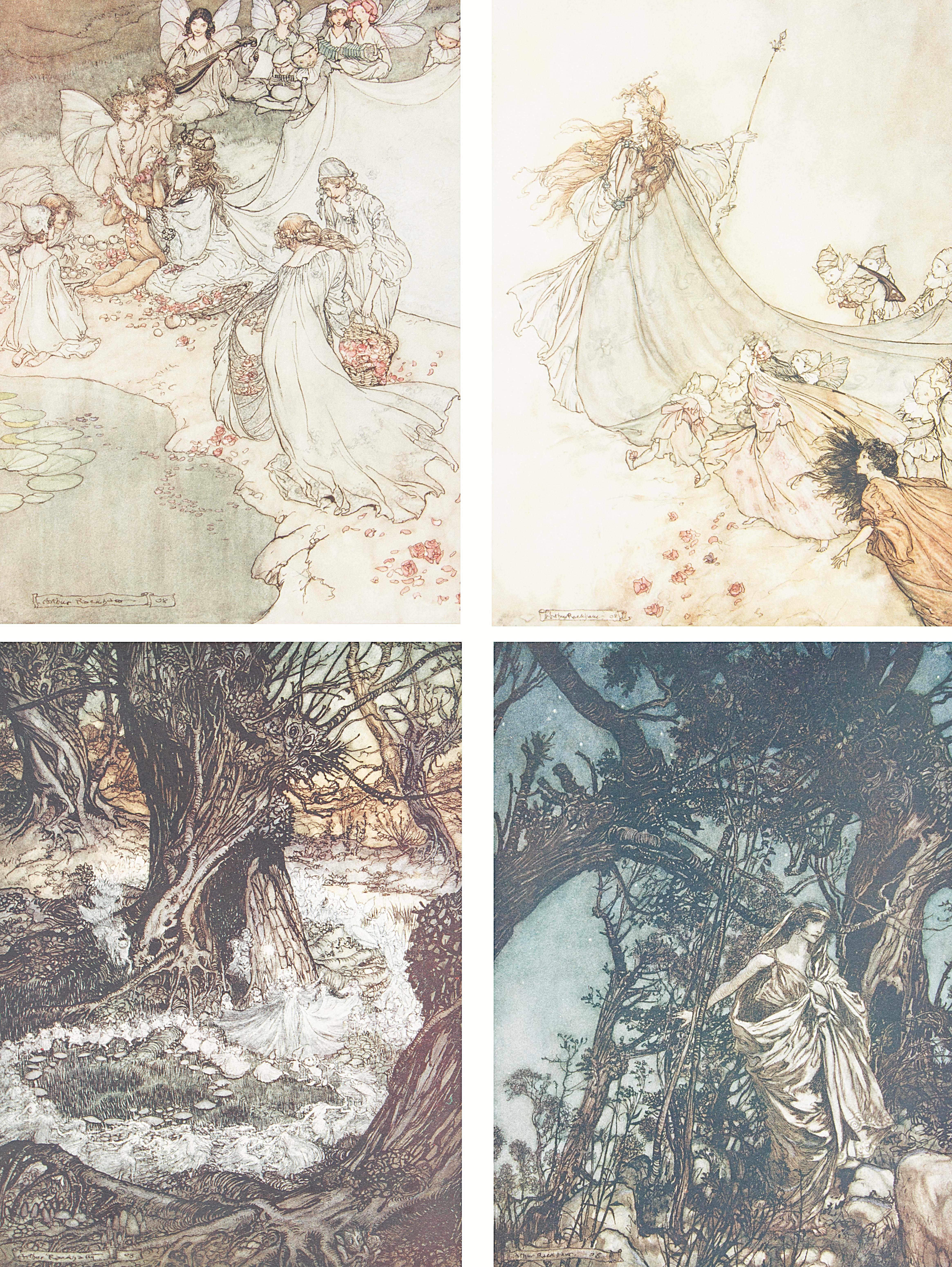 1908 MIDSUMMER NIGHT'S DREAM BY WILLIAM SHAKESPEARE, ILLUSTRATIONS BY ARTHUR RACKHAM - Image 5 of 7