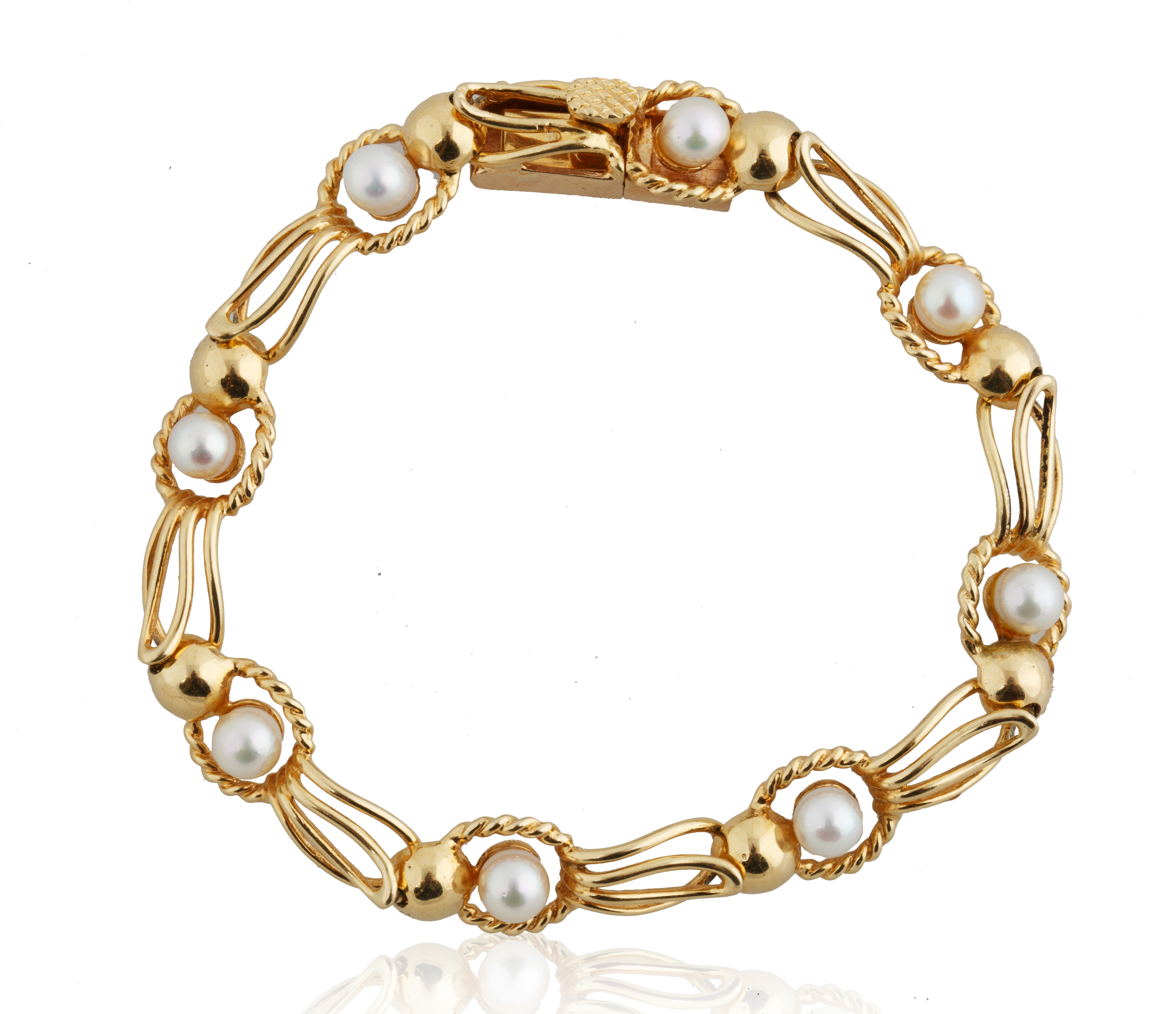 PEARL AND 18KT GOLD BRACELET AND NECKLACE SET - Image 5 of 8