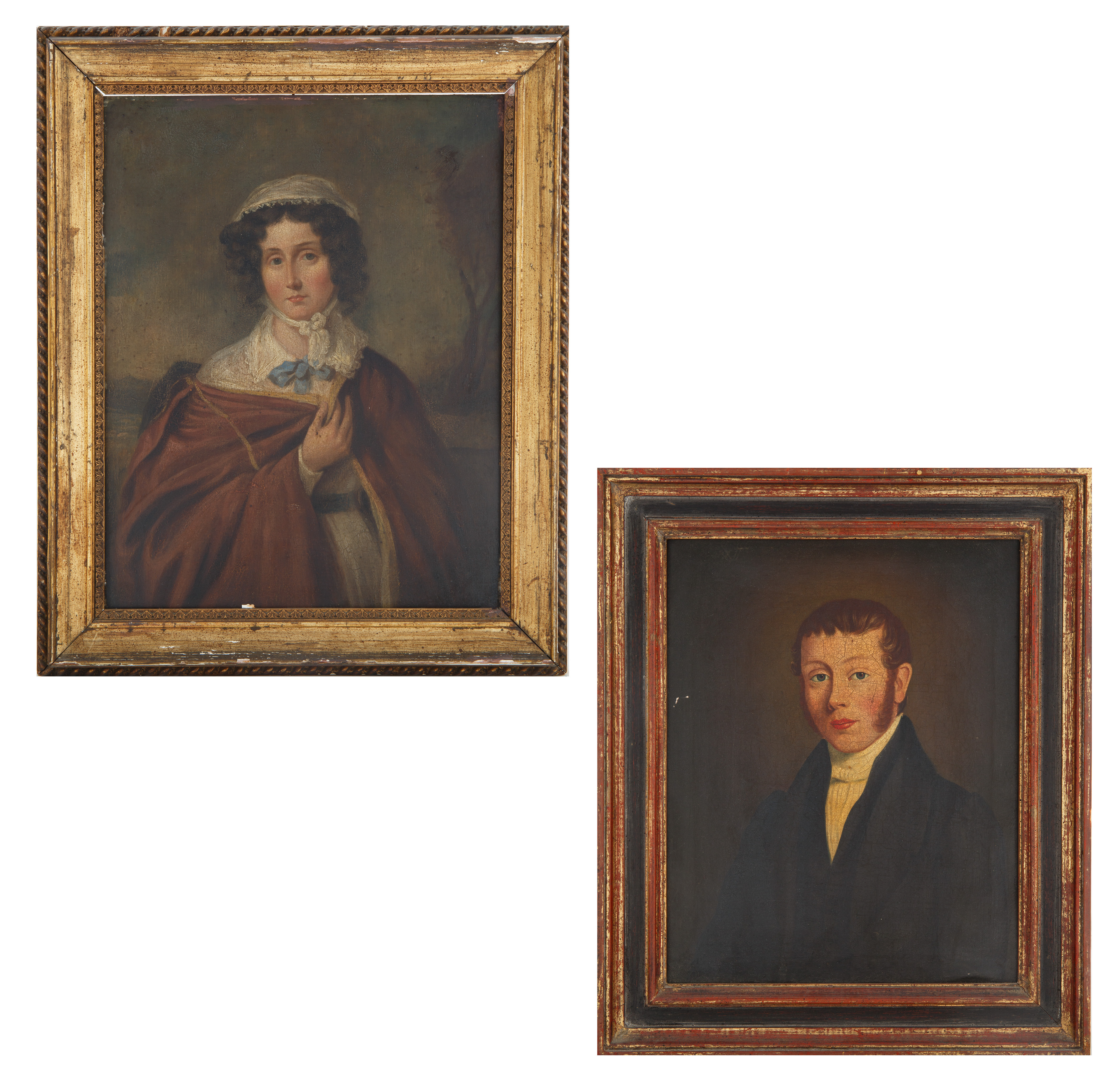19TH CENTURY WEDDING PORTRAITS BY AMERICAN ARTISTS - Image 2 of 8