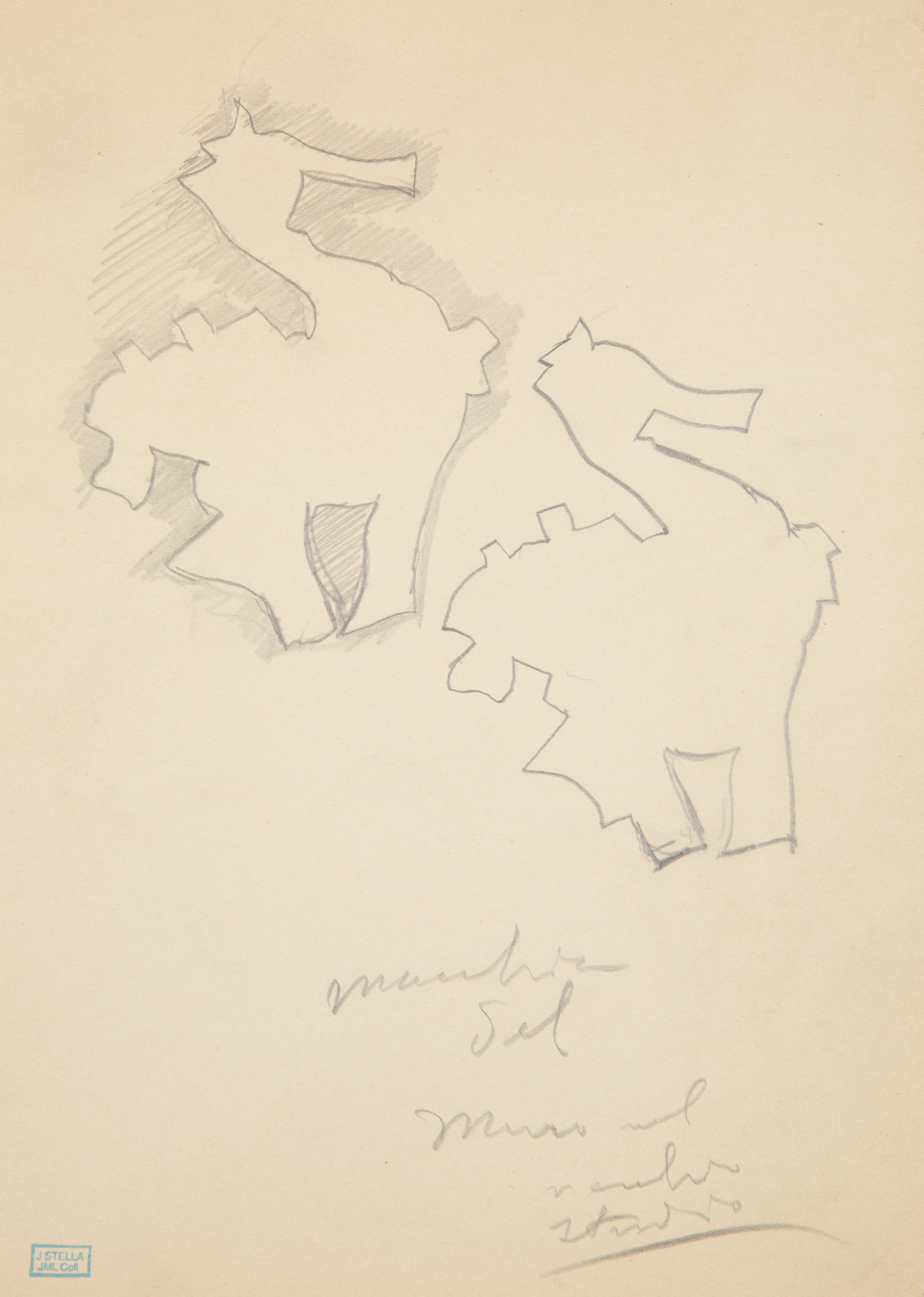 A PAIR OF DRAWINGS BY JOSEPH STELLA (AMERICAN 1877-1946) - Image 3 of 4