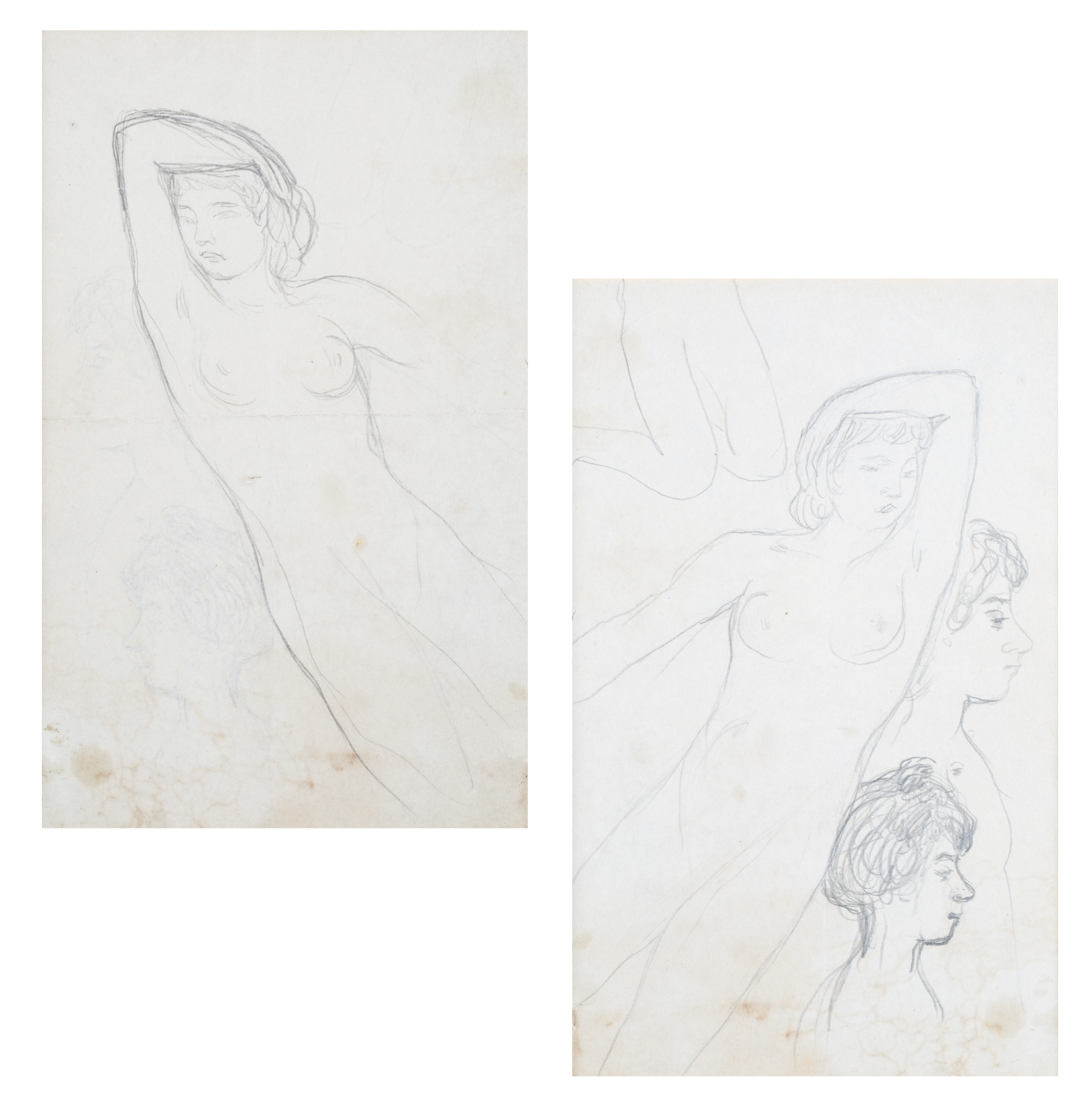 A DOUBLE-SIDED NUDE BY PIERRE BONNARD (FRENCH 1867-1947)