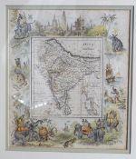 FOUR 19TH-CENTURY ILLUMINATED ORIENTAL MAPS