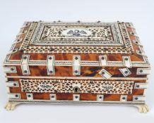 ANGLO-INDIAN TORTOISESHELL & IVORY BOX