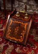 EDWARDIAN MARQUETRY COAL BOX