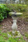 WEATHERED MOULDED STONE SUNDIAL