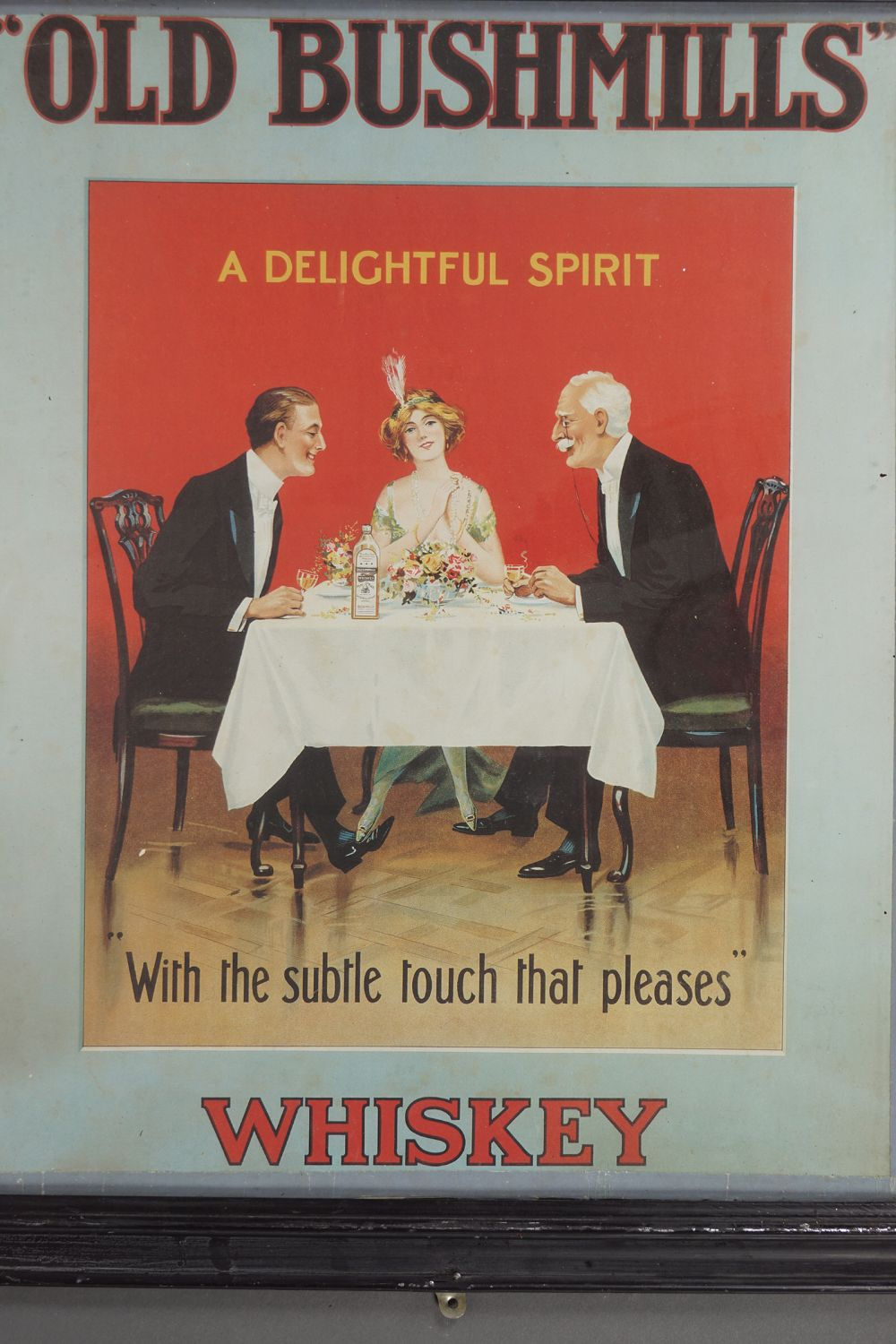 OLD BUSHMILLS WHISKEY POSTER - Image 2 of 2