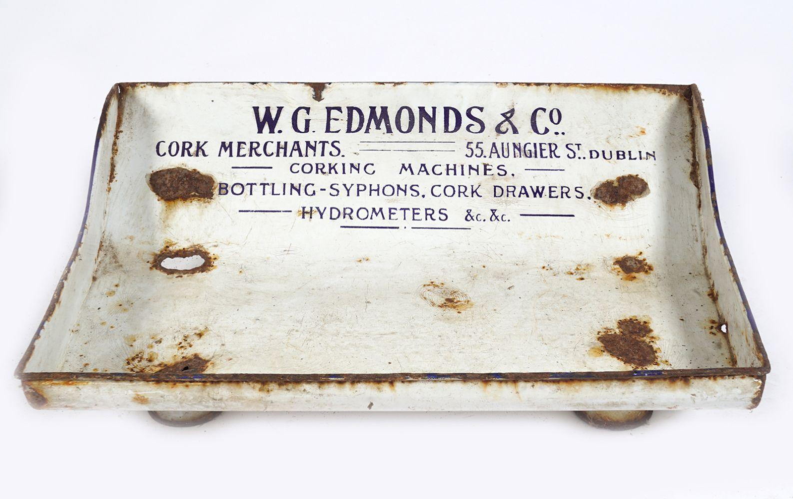 W. G. EDMONDS & CO. DESK SIGN