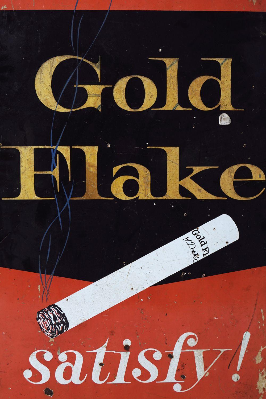 GOLD FLAKE SATISFY! ORIGINAL SIGN - Image 2 of 3