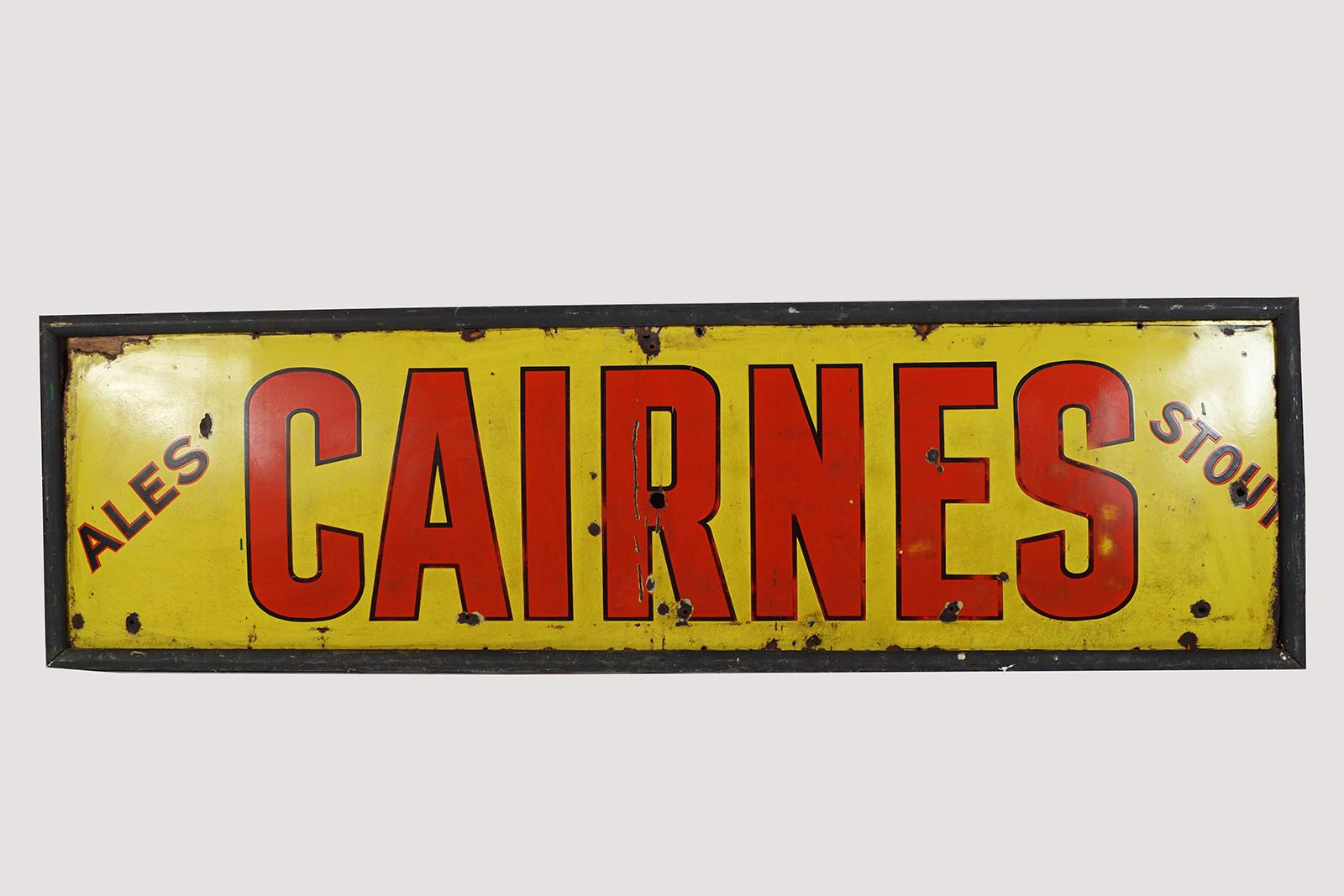 CAIRNES ALES & STOUT ORIGINAL ENAMELLED SIGN