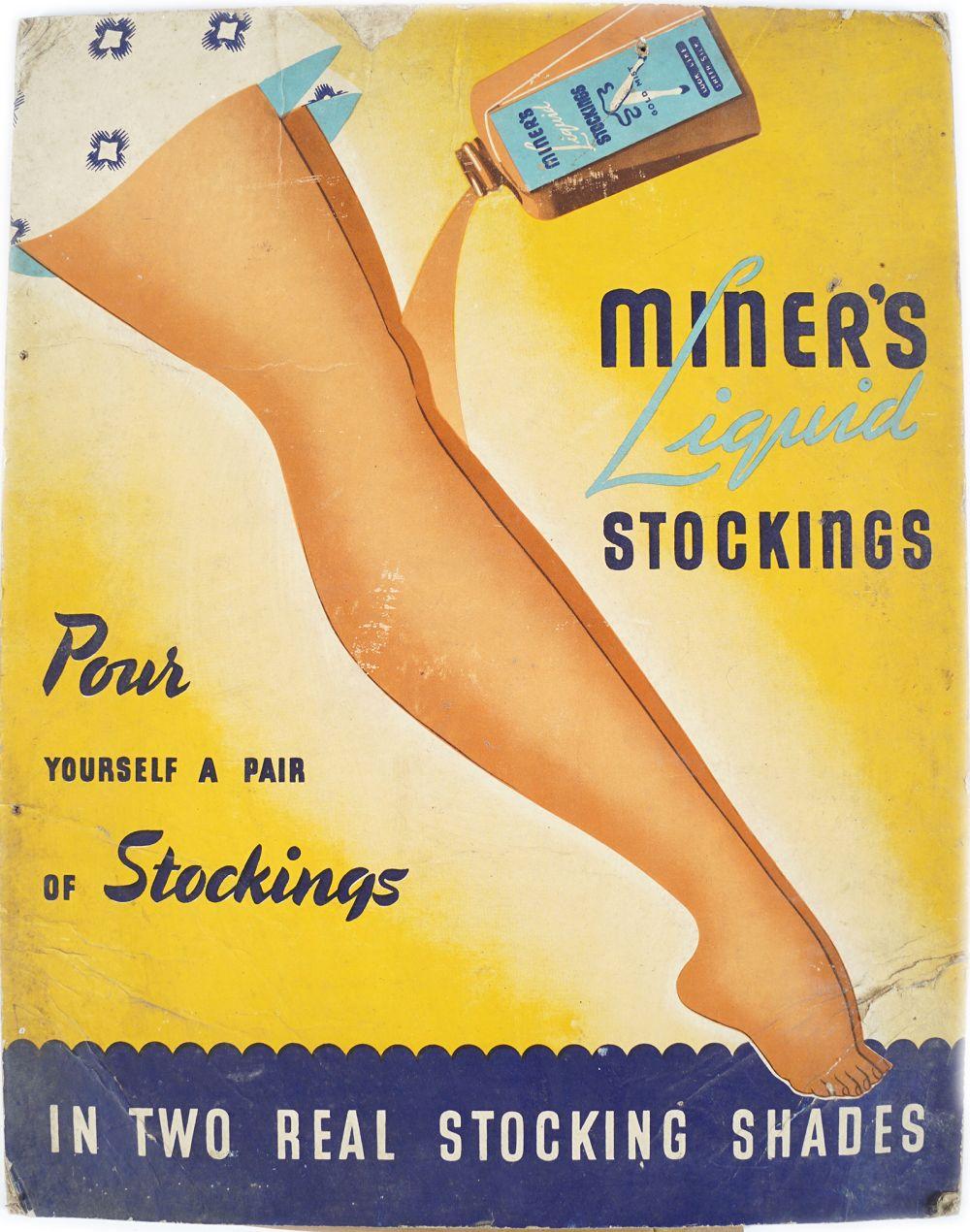 MINER'S LIQUID STOCKINGS ORIGINAL POSTER