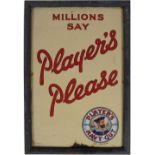 MILLIONS SAY PLAYER'S PLEASE ORIGINAL POSTER