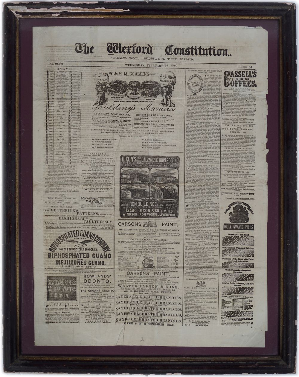 WEXFORD CONSTITUTION VINTAGE POSTER
