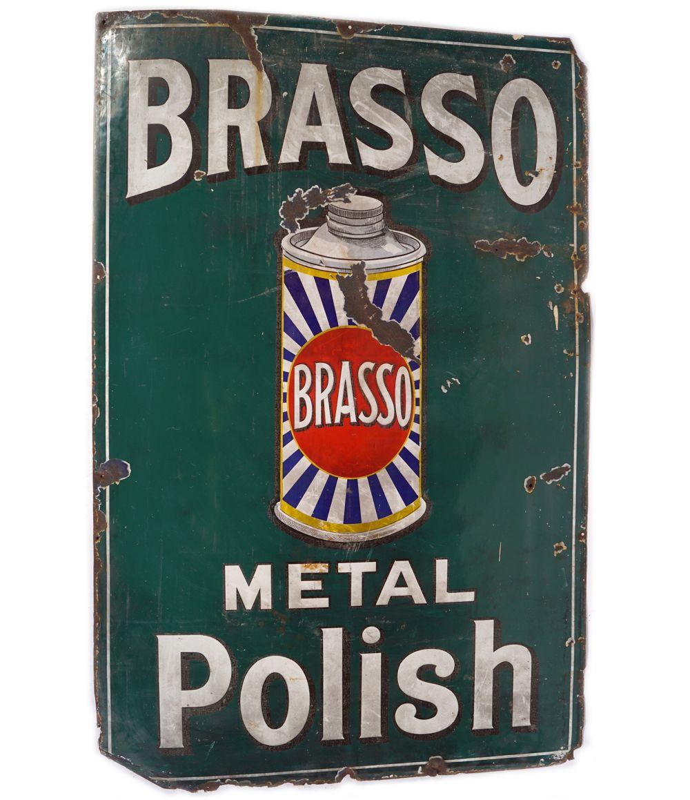 BRASSO METAL POLISH SIGN