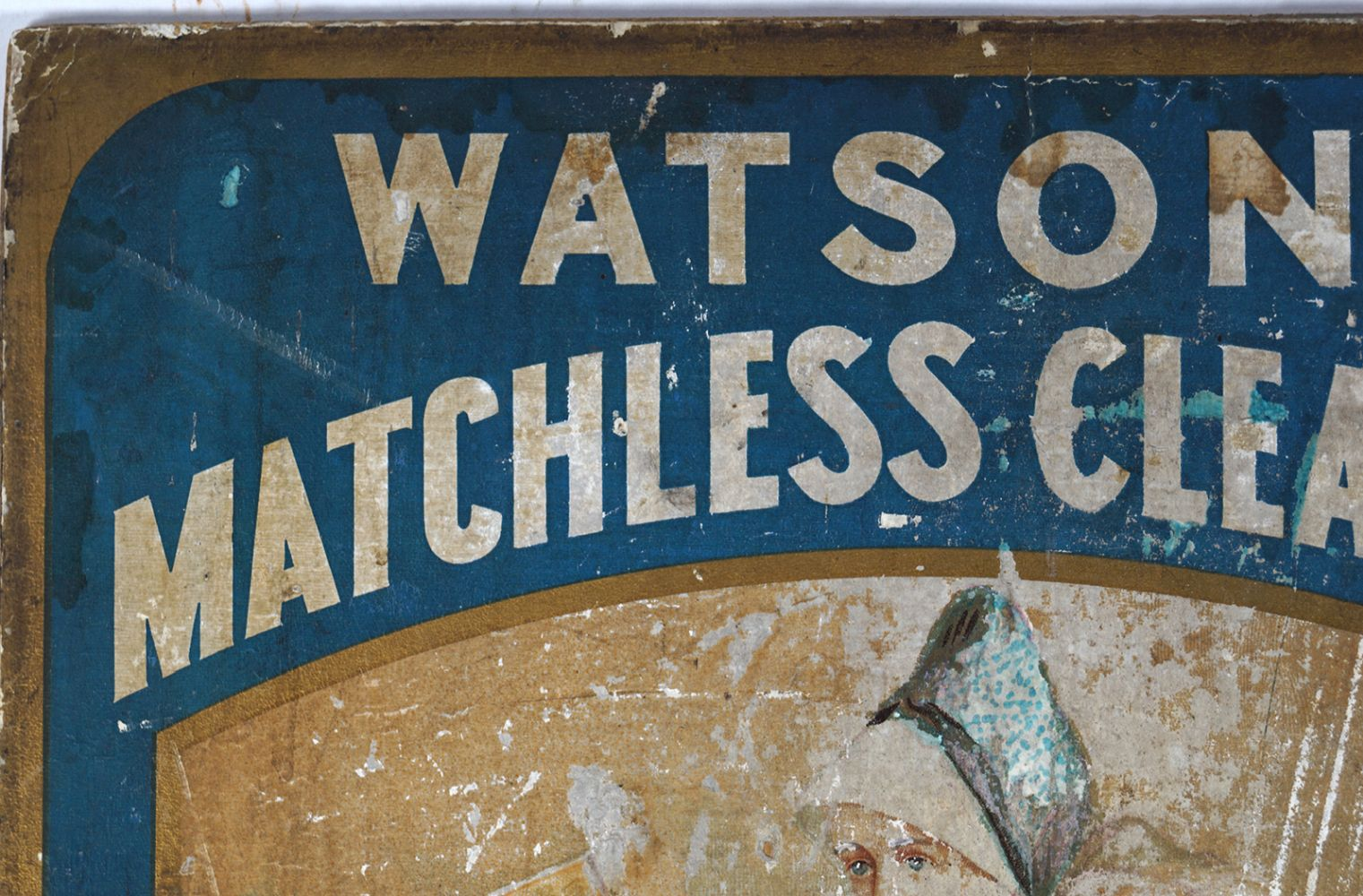 WATSON'S MATCHLESS CLEANSER VINTAGE POSTER - Image 2 of 5