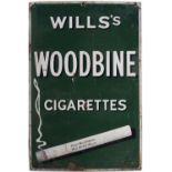 WILLS'S WOODBINE CIGARETTES ORIGINAL SIGN