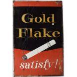 GOLD FLAKE SATISFY! ORIGINAL SIGN