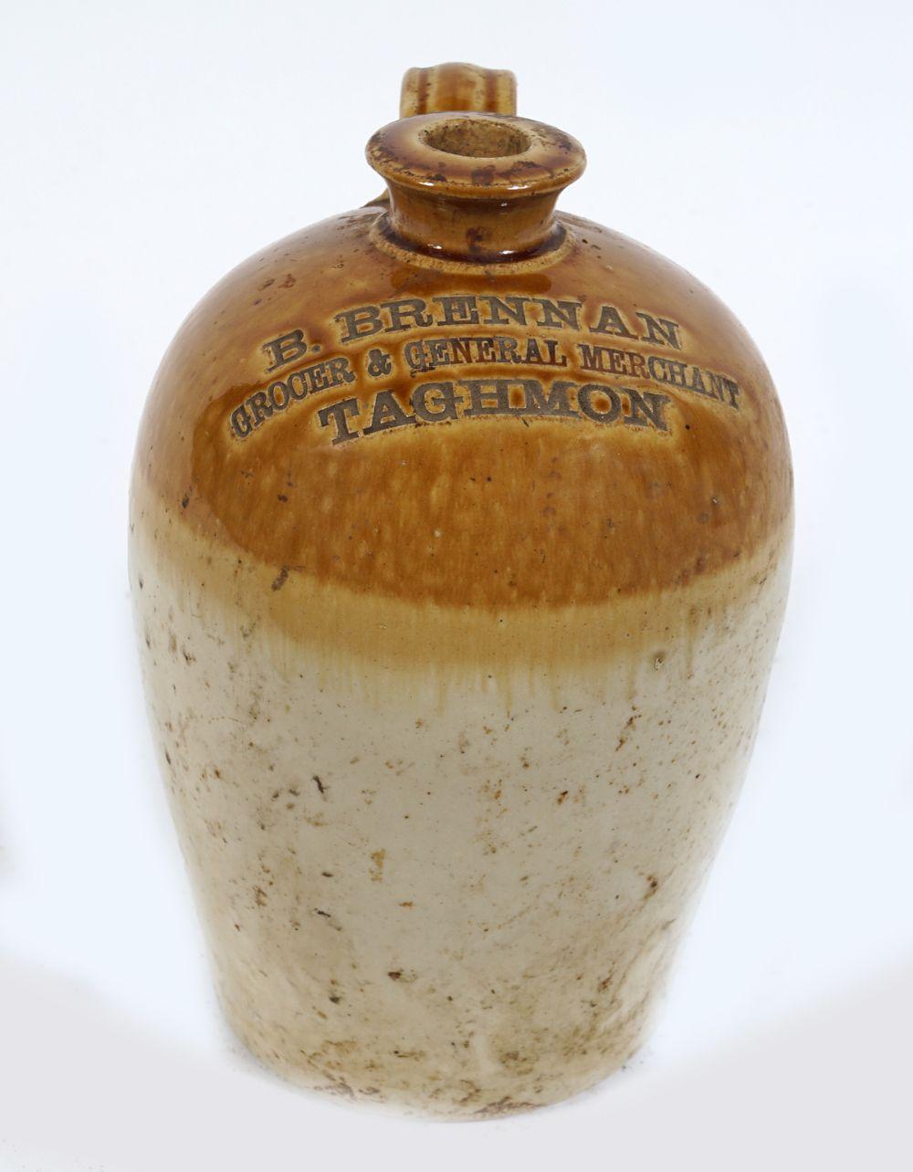 LATE 19TH-CENTURY STONEWARE WHISKEY JAR