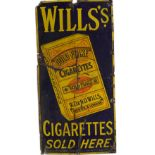WILLS'S CIGARETTES SOLD HERE SIGN