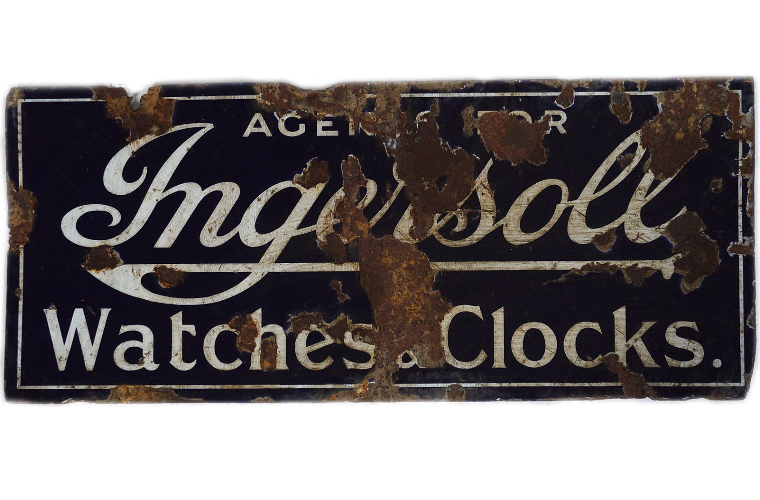 AGENTS FOR INGERSOLL WATCHES & CLOCKS SIGN