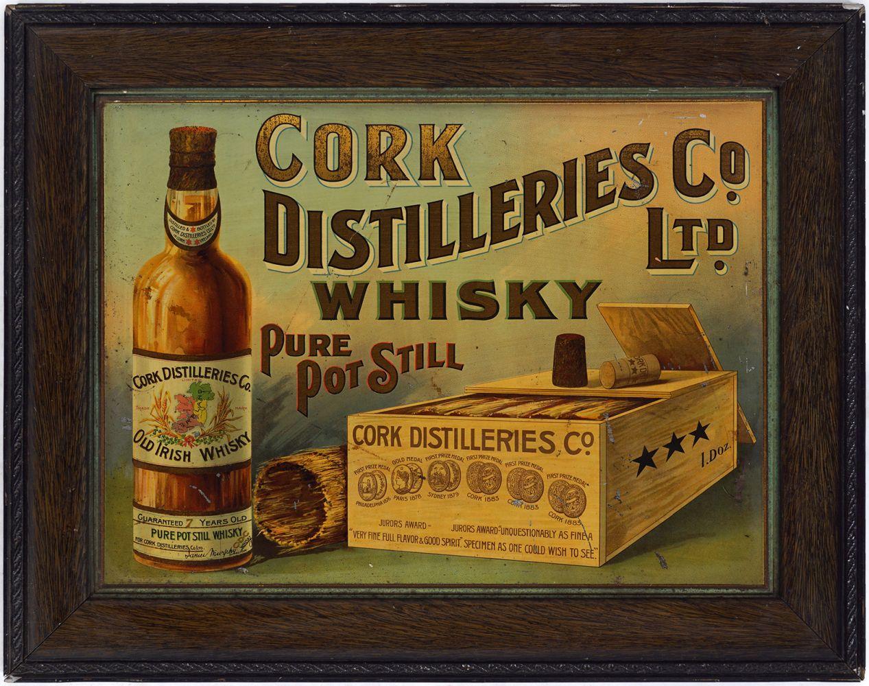 CORK DISTILLERIES CO. LTD WHISKY ORIGINAL POSTER