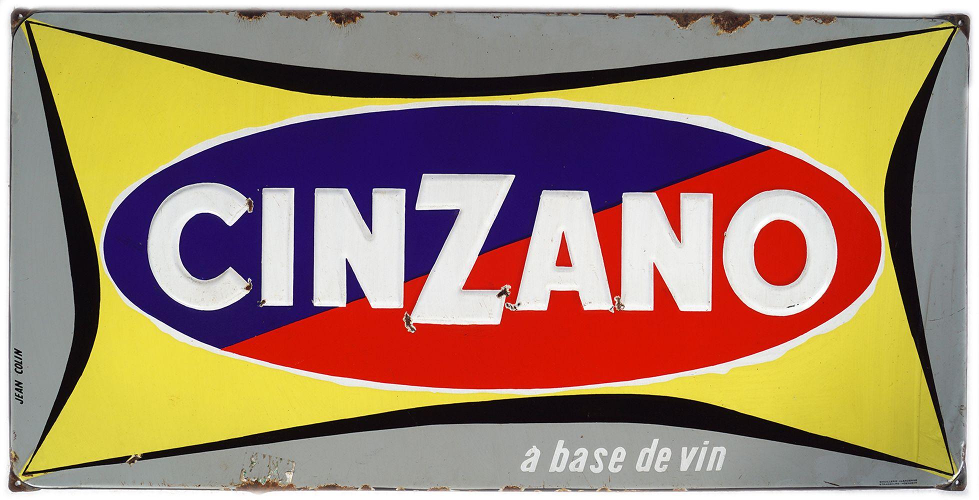 CINZANO ORIGINAL ENAMELLED SIGN