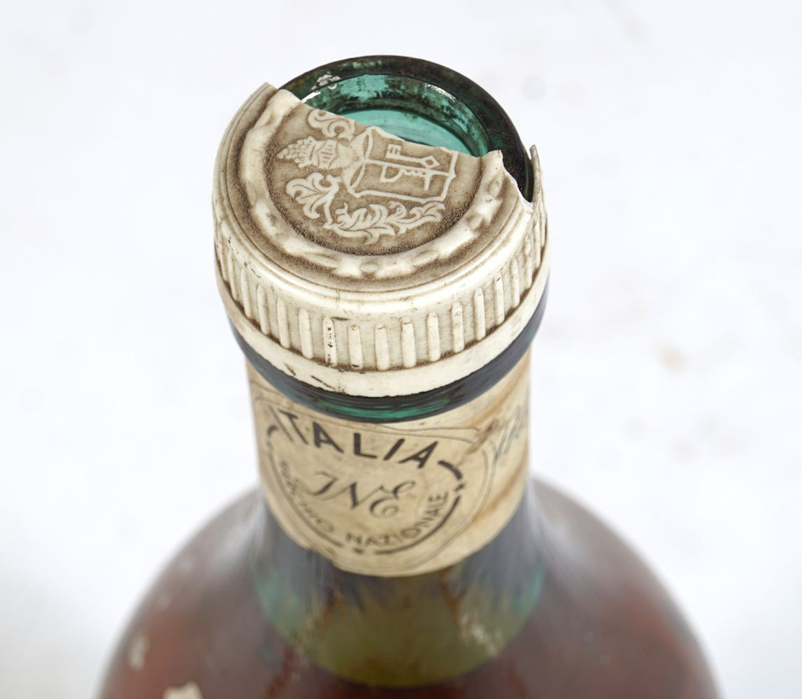 OLD BROWN GLASS MAGNUM BOTTLE - Image 5 of 5