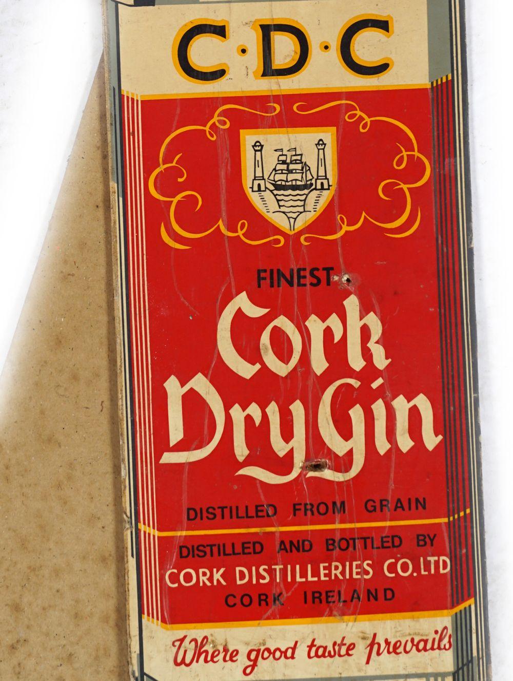 C.D.C. CORK DRY GIN ORIGINAL POSTER - Image 2 of 4