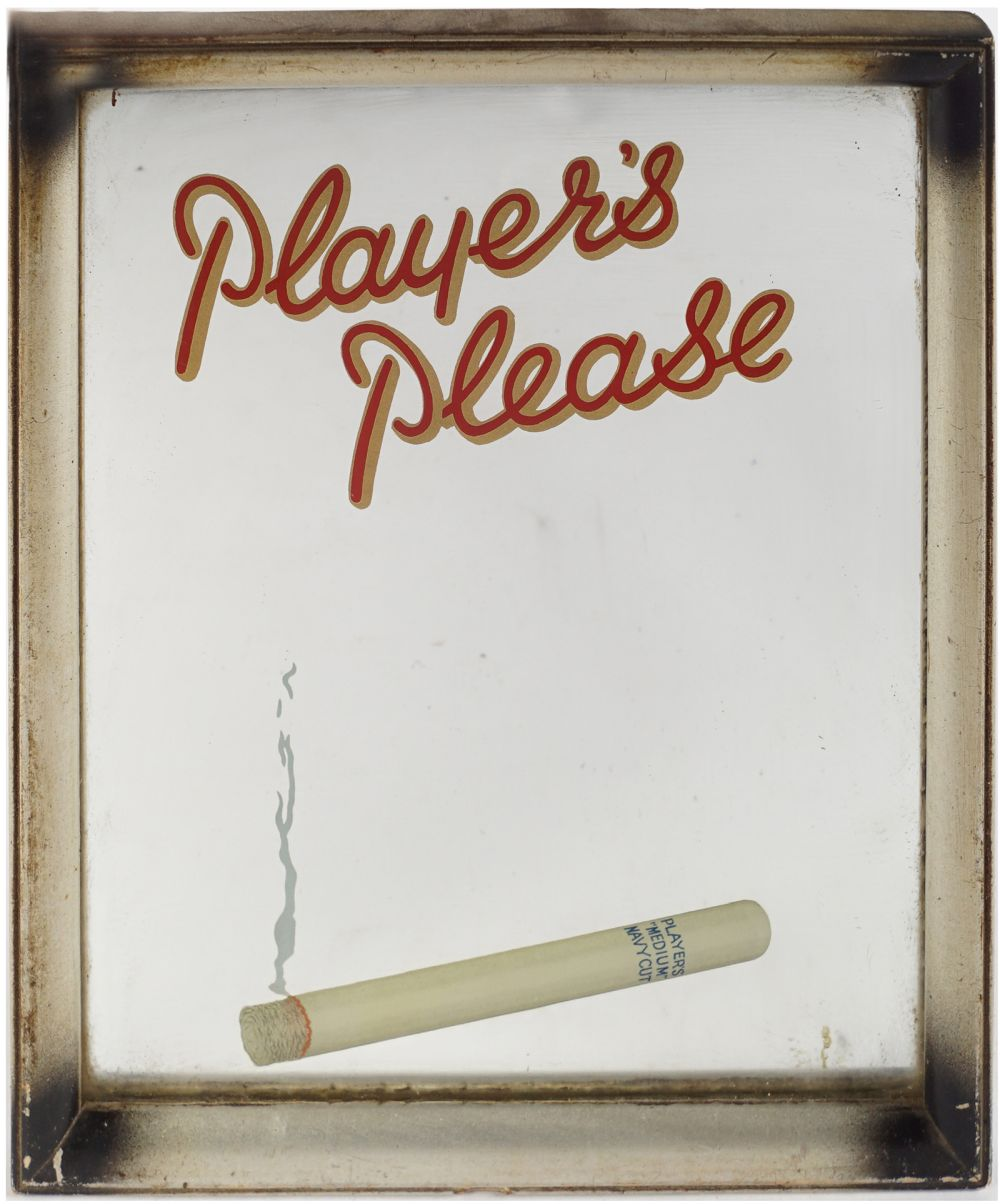 PLAYER'S PLEASE ORIGINAL ADVERTISING MIRROR