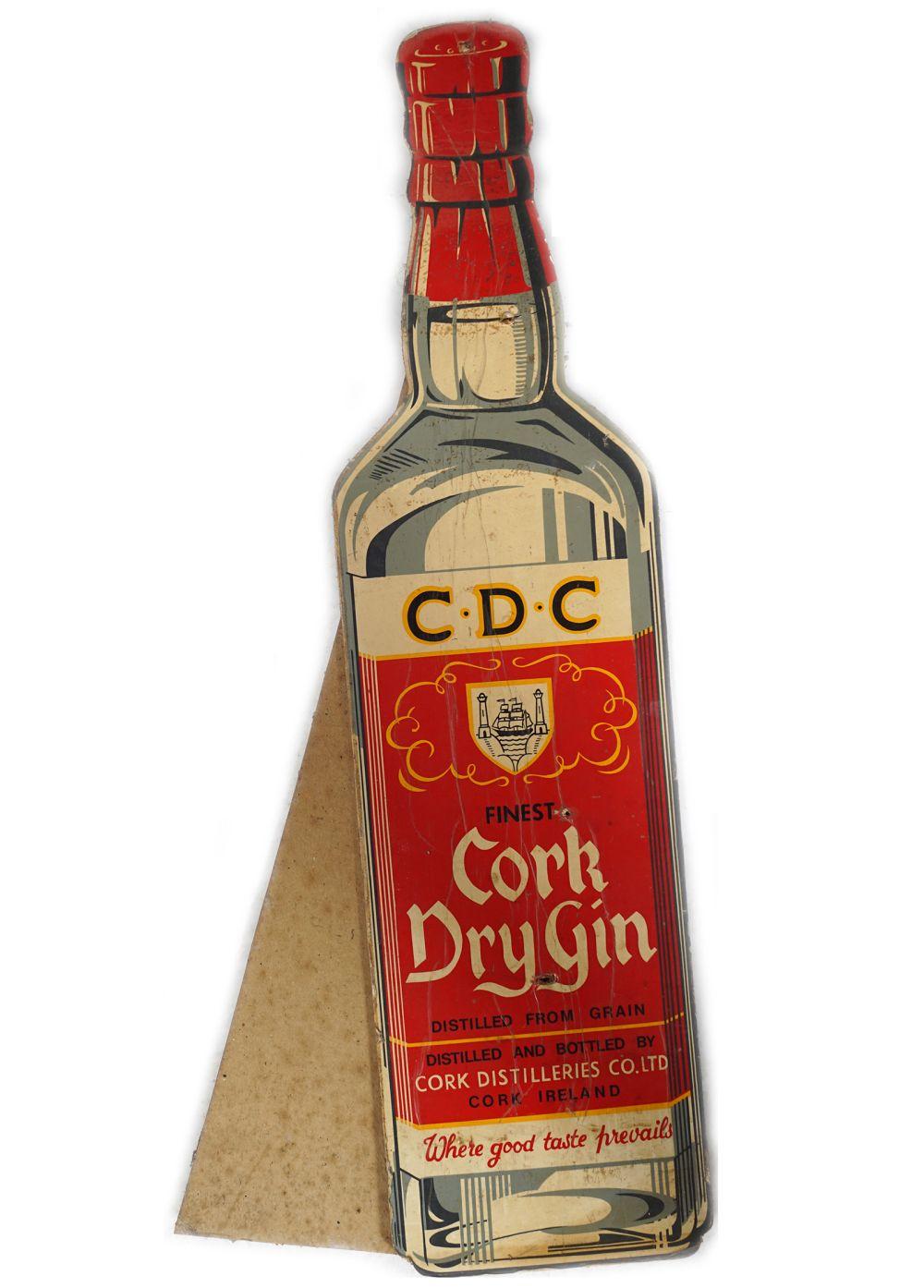 C.D.C. CORK DRY GIN ORIGINAL POSTER