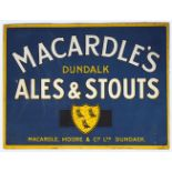 MACARDLE'S DUNDALK ALES ORIGINAL POSTER