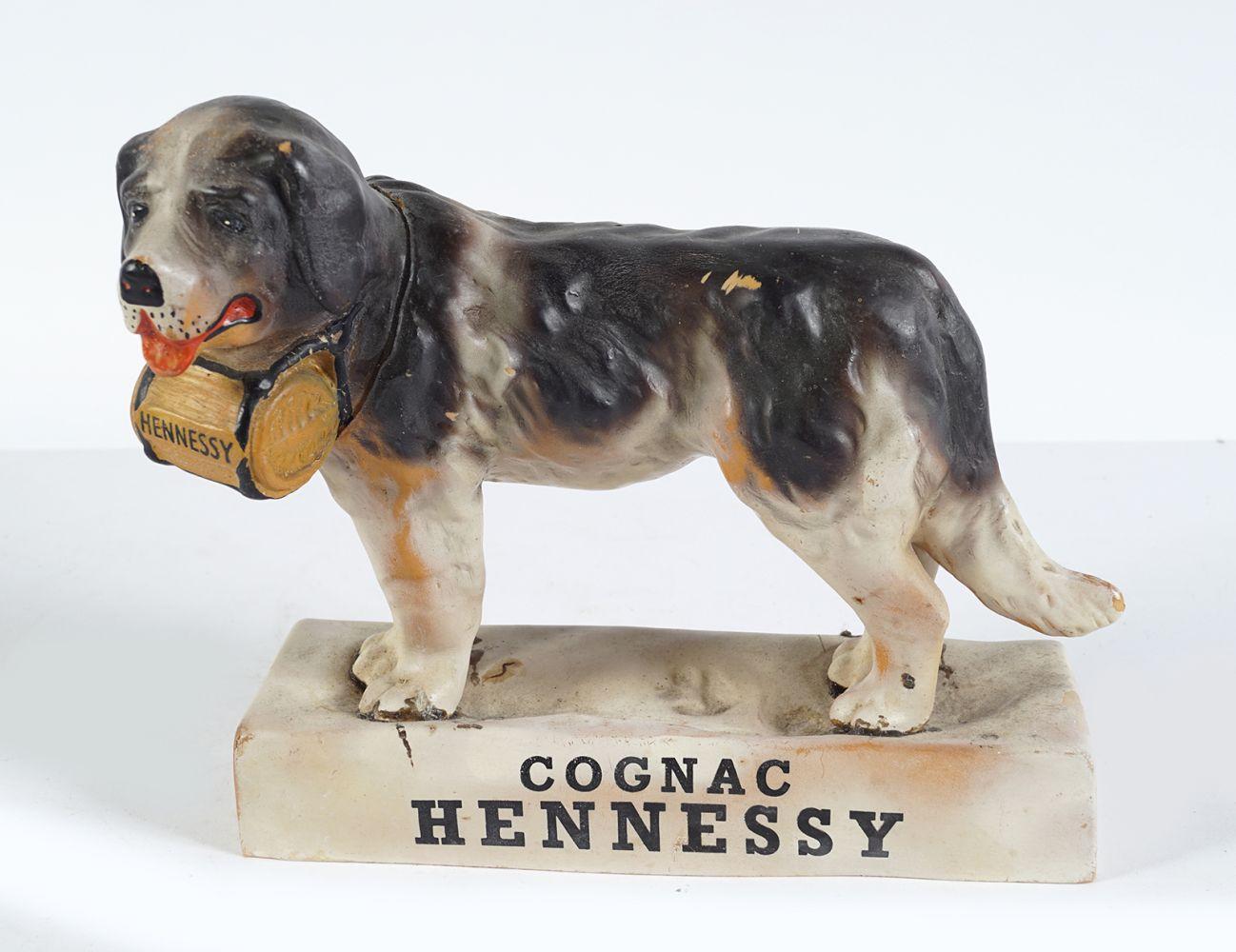 COGNAC HENNESSY ST. BERNARD FIGURINE