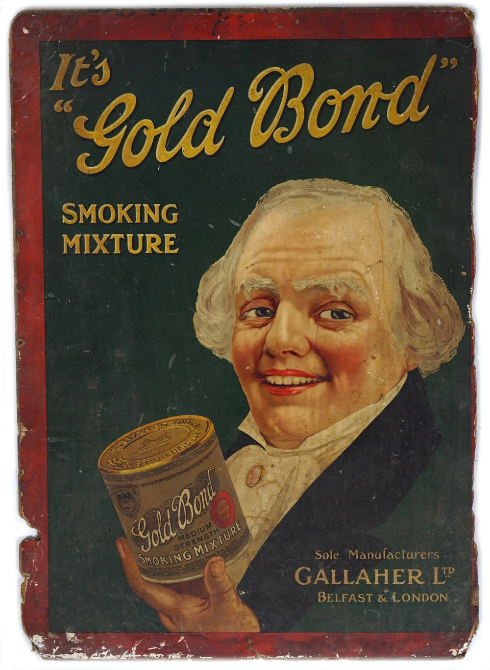 ITS GOLD BOND SMOKING MIXTURE ORIGINAL POSTER