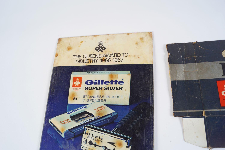 GILLETTE SUPER SILVER POSTER ON METAL - Image 4 of 4