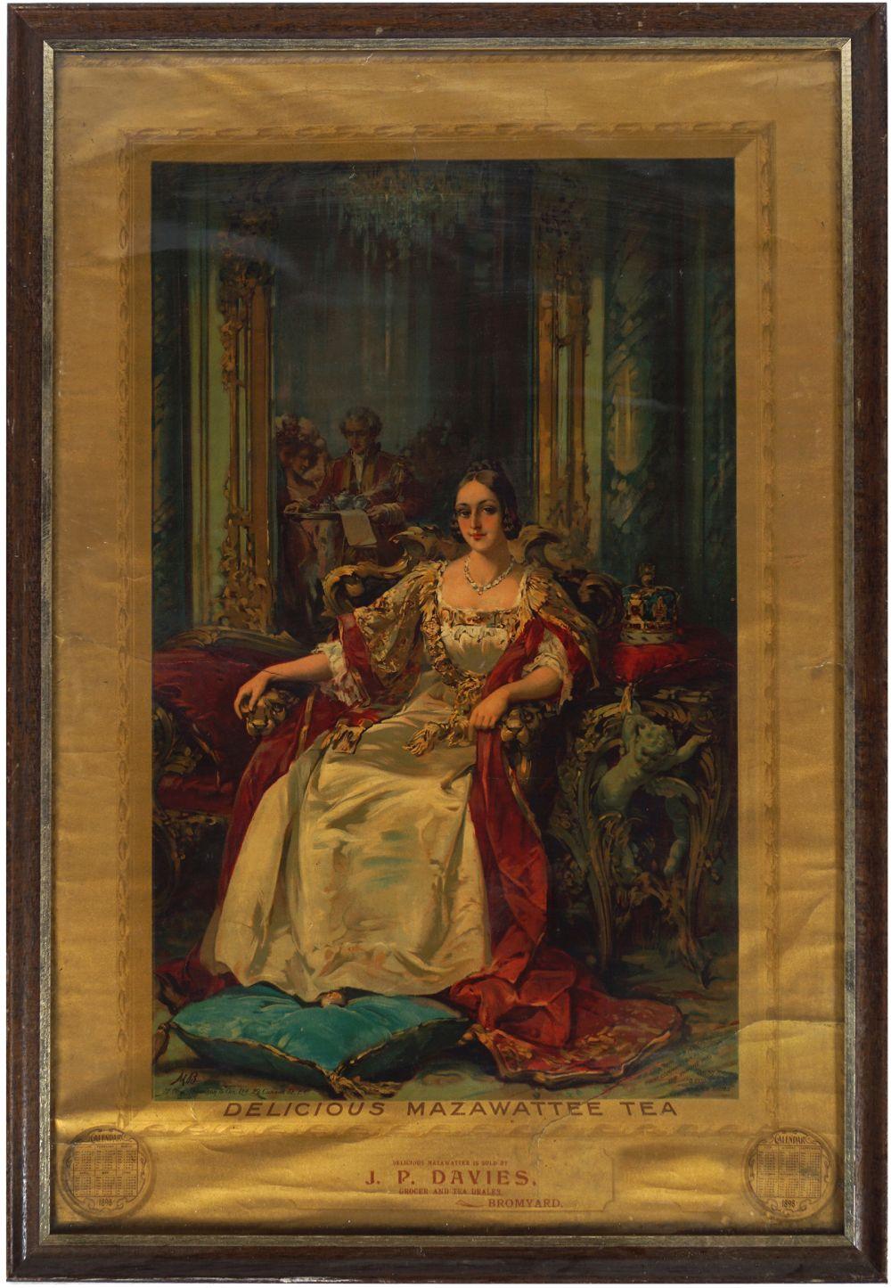 DELICIOUS MAZAWATTEE TEA CALENDAR 1898