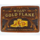 WILLS'S GOLD FLAKE CIGARETTES ORIGINAL POSTER