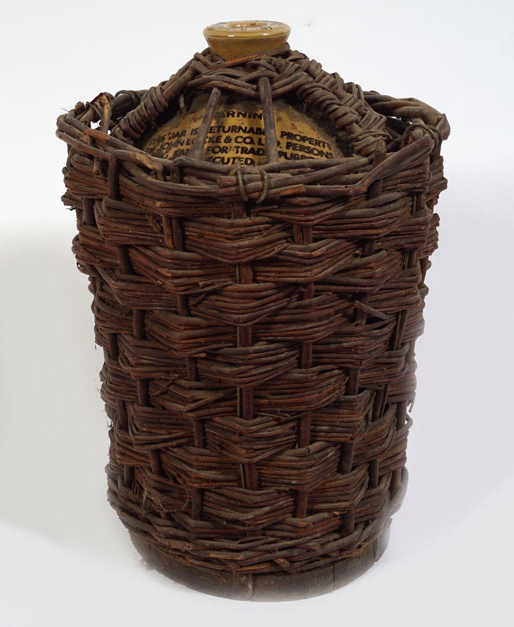 LATE 19TH-CENTURY JOHN LOCKE'S WHISKEY JAR