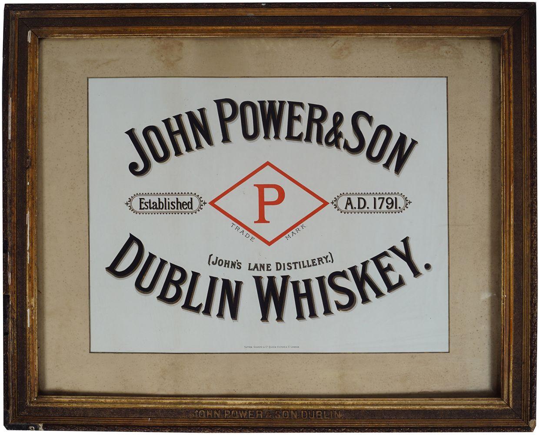 JOHN POWER & SON WHISKEY ORIGINAL POSTER