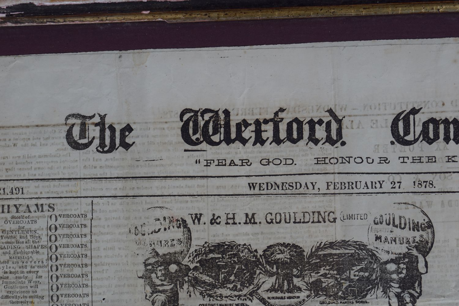 WEXFORD CONSTITUTION VINTAGE POSTER - Image 2 of 8