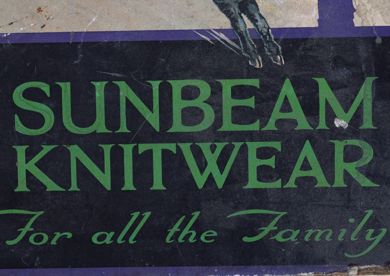SUNBEAM KNITWEAR ORIGINAL VINTAGE POSTER - Image 4 of 4