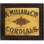 A. MILLAR & CO'S CORDIALS ORIGINAL POSTER